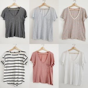 Madewell Whisper Tees Size Large • Lot of 6